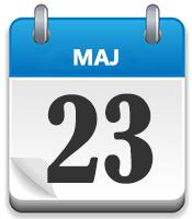23 MAJ blå