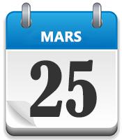 25 mars blå